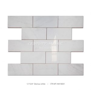 12x24 Glorious White Marble Tile
